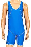 Трико для борьбы и тяжелой атлетики ASICS CO-7045-BL синее
