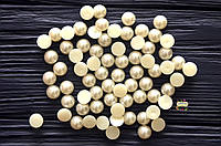 Полубусины, половинки жемчужин, 7 мм, цвет молочный, 80 шт.
