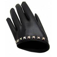 Унисекс Половина Palm Заклепка Перчатки Зимние теплые рукавицы Чёрный