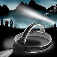 HKV Супер яркий мини-светодиодный налобный фонарь для рыбалки с функцией телескопической фокусировки 3 режима энергосберегающий спортивный головной