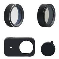 Sheenfoto Утилита комплект защитный UV фильтр / крышка / CPL для Xiaomi mijia Чёрный