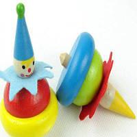 Детская деревянная игрушка клоуна Цветной
