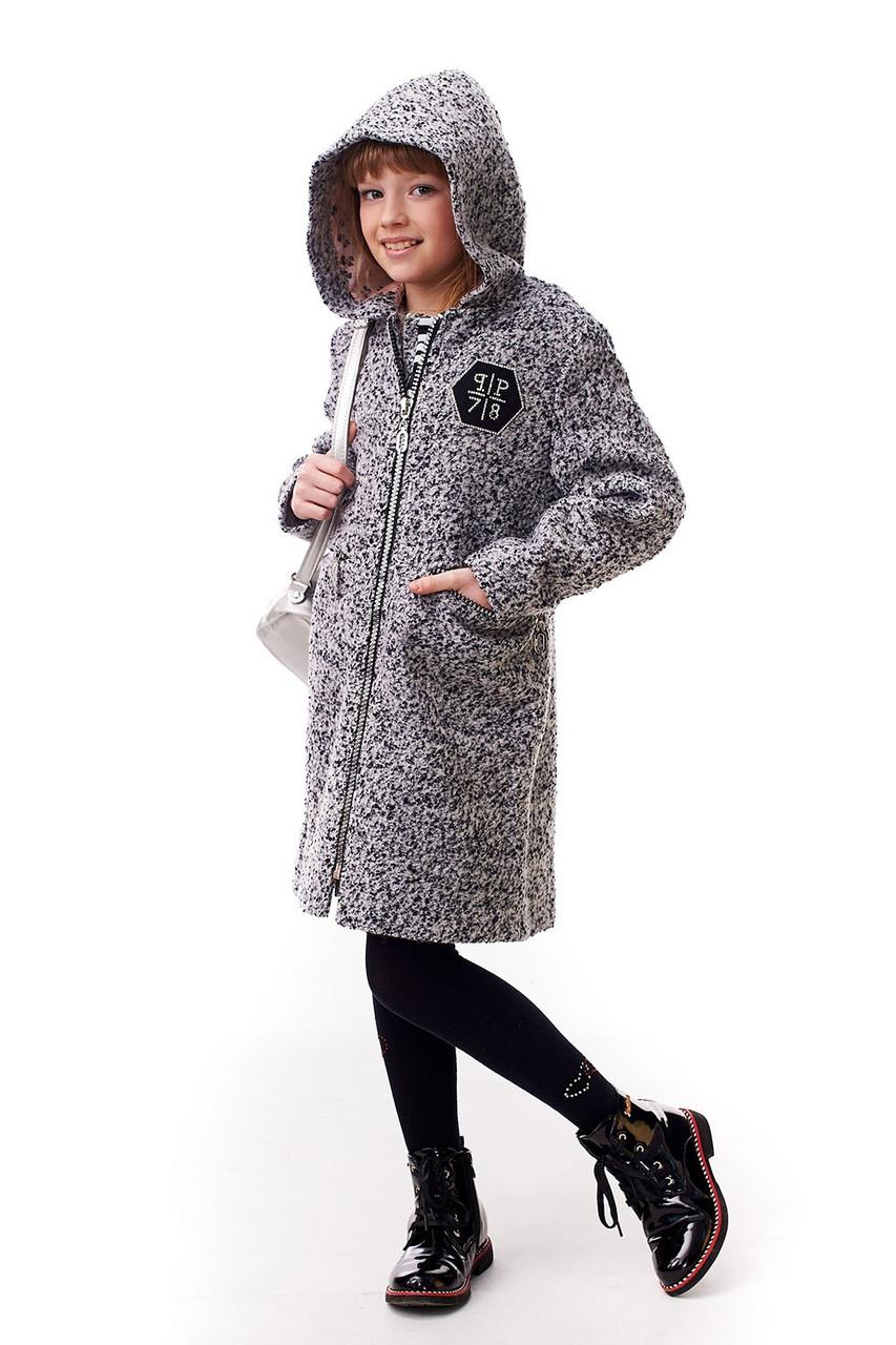 736d4056bab Демисезонное детское пальто для девочки с капюшоном