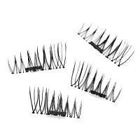 Имитация Магнитные накладные ресницы Свободный клей Многоразовые 3D-стереоскопические натуральные макияжные инструменты для глаз One Pair