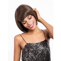 Синтетическая машина для волос сделана прямым париком из термостойкого волокна для женщин с короткими 7,5-дюймовыми V02