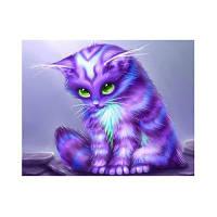 Naiyue 7034 Purple Cat Print Draw Алмазный рисунок 1 шт