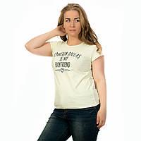 Женская футболка котоновая Турция салатовая Cameron Dallas