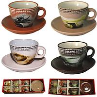 1463-2 Сервиз чайный 12ел. чашка-220 мл, блюдце-14 см
