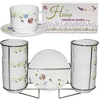 30080-110 Набор чайный 12пр. Весенние цветы на стойке (250мл)