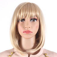 Боб Стиль Средняя длина Блондинки Парики для женщин Теплостойкие синтетические парики для волос SW0020J-O блонд 27M613#