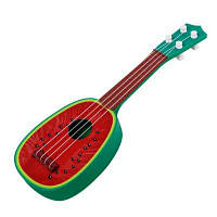 Особенно в играх Kerry Mini Fruit Guitar Beginners Guitar Sound Instrument Toys Красный