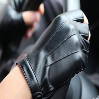 Мужские ретро-кожаные перчатки с перчатками Чёрный
