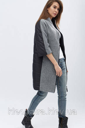Шикарное демисезонное пальто prunel- 455 Жаклин