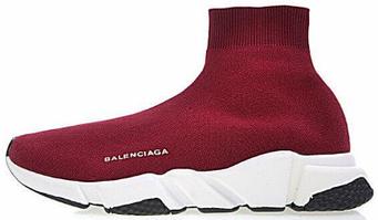 Женские кроссовки Balenciaga Speed Trainer Prune (люкс копия)