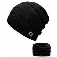 Открытый многоцелевой пустой топ вязания крючком трикотажные шапочка Чёрный