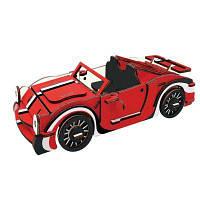 3D Деревянные DIY Моделирование автомобилей Puzzle игрушки Красный