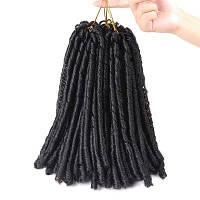 Короткие дреды Вязание крючком Синтетическое наращивание волос Чёрный