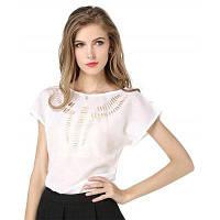 Летняя шифоновая рубашка для блузки Женская винтажная полосатая повседневная рубашка XL