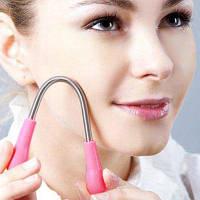 Портативный ручной инструмент для удаления волос для лица Розовый