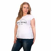 Футболка женская летняя белая Pepe Jeans