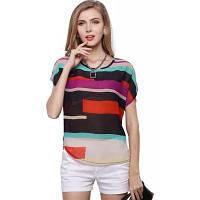 Летние женские блузки с шифоновыми блузками с короткими рукавами Блузка с длинными рукавами XL