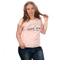 Футболка женская летняя пудра Pepe Jeans