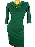 Строгое трикотажное платье 44-50 (в расцветках)