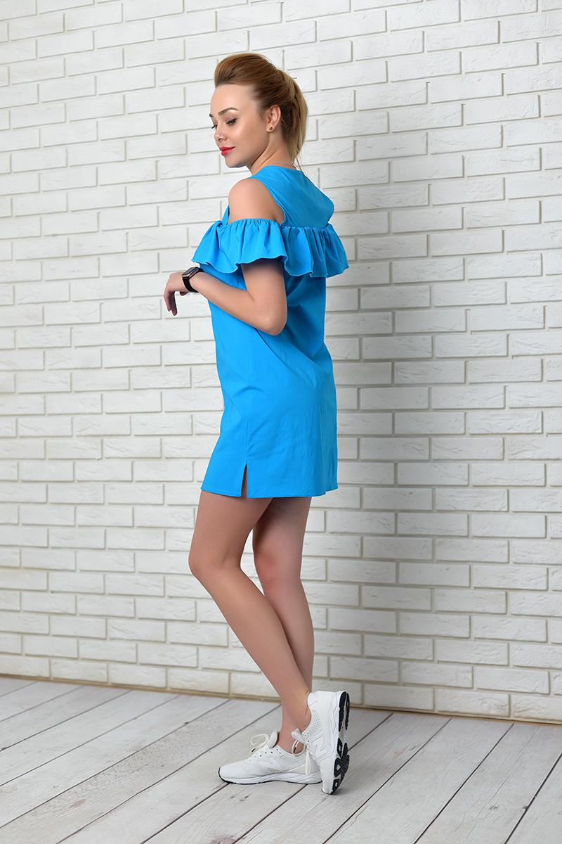 Платье, модель 906, цвет - аквамарин