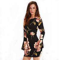 Платье с рукавом из трусиков с круглым воротником XL