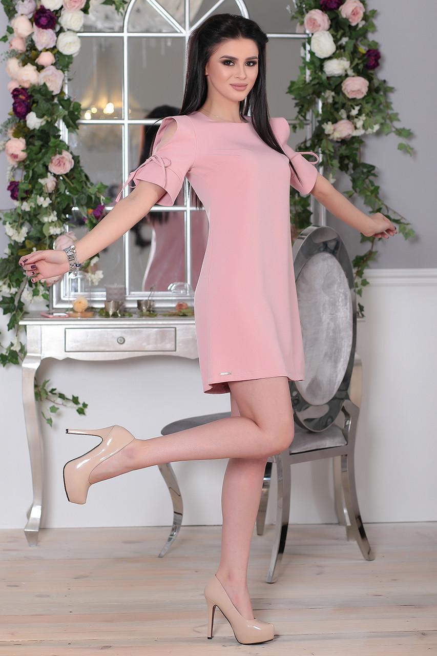 Платье Элин мини в цвете пудра