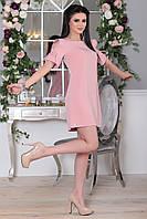 Платье Элин мини в цвете пудра, фото 1