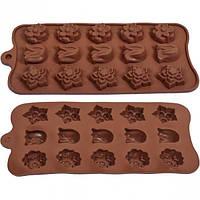 Форма силиконовая для конфет, льда Тюльпан 21*10,5*1,3 см