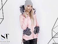 Стильная женская куртка зима норма р.42-46 ST Style