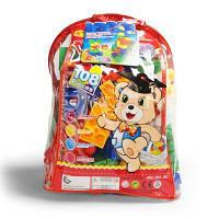 Дети pp большой гранула головоломки раннего образования пластиковые коллаж из строительных блоков игрушка небольшой рюкзак коллекции Цветной