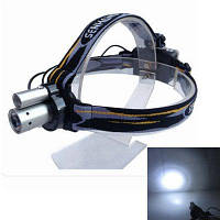 Sencart Двойной светодиодный налобный фонарь водонепроницаемый головной фонарь для открытого кемпинга рыбалки Чёрный