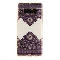 Диагональный тотем Soft Clear IMD TPU Корпус для телефона Мобильный смартфон Обложка Корпус для Samsung Galaxy Note 8 Фиолетовый