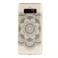 Большой белый цветной мягкий прозрачный корпус IMD TPU для мобильного телефона Мобильный смартфон Обложка Корпус для Samsung Galaxy Note 8 Белый