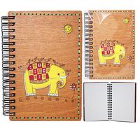 95400-04 Блокнот с гравировкой Детский-Слон+Вышивка 95*144мм,50листов\линия