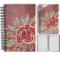 95400-05 Блокнот с гравировкой Цветы-Роза 95*144мм,50листов\линия
