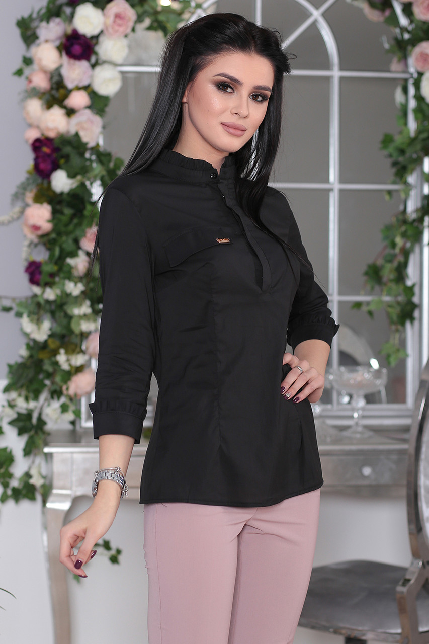 Рубашка деловой стиль черная