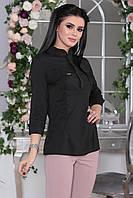 Рубашка деловой стиль черная, фото 1