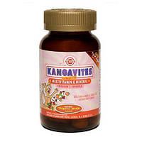 Кангавитес с мультивитаминами и минералами со вкусом тропических фруктов таблетки,60 шт, Солгар / Solgar
