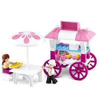 Sluban Building Blocks Обучающая детская игрушка Комплект для перевозки пищевых продуктов (78 шт.) Цветной