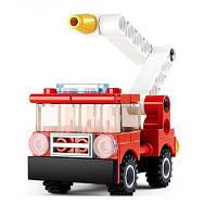 Sluban Building Blocks Обучающая детская игрушка Fire Police Set (38-44 шт.) Красный