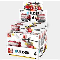Sluban Building Blocks Обучающая детская игрушка Ассорти из моделей пожарной полиции 8PCS (276 шт.) Цветной