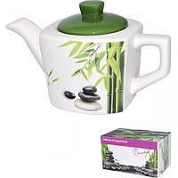 2231-01 Чайник квадратный Зеленый бамбук 840мл