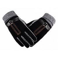 Мужские кожаные перчатки для зимнего вождения От XS to M