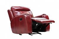 """Кожаное кресло-реклайнер с функцией качание """"Freeman"""""""
