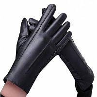 Зимние кожаные теплые сенсорные перчатки для женщин От XS to M