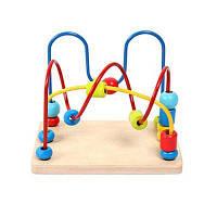 Mingta деревянные игрушки лабиринт раннее образование бусы для детей цвет